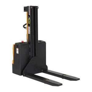 Vestil 90 inch Narrow Mast Stacker with Power Lift Power Drive and 27 inch Fixed... by Vestil