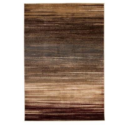 Opus Abstract Stripes Cream 8 ft. x 10 ft. Area Rug