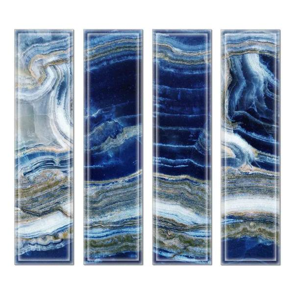 3 in. x 12 in. x 6 mm Upscale Designs Crystal Glass Mosaic Wall Tile ( 7.8 sq.ft. / Case)