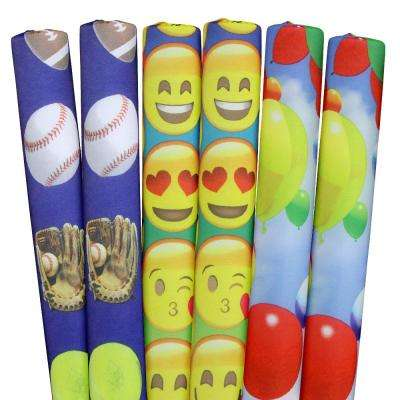 Sports, Emojis, Balloons Pool Noodles (6-Pack)