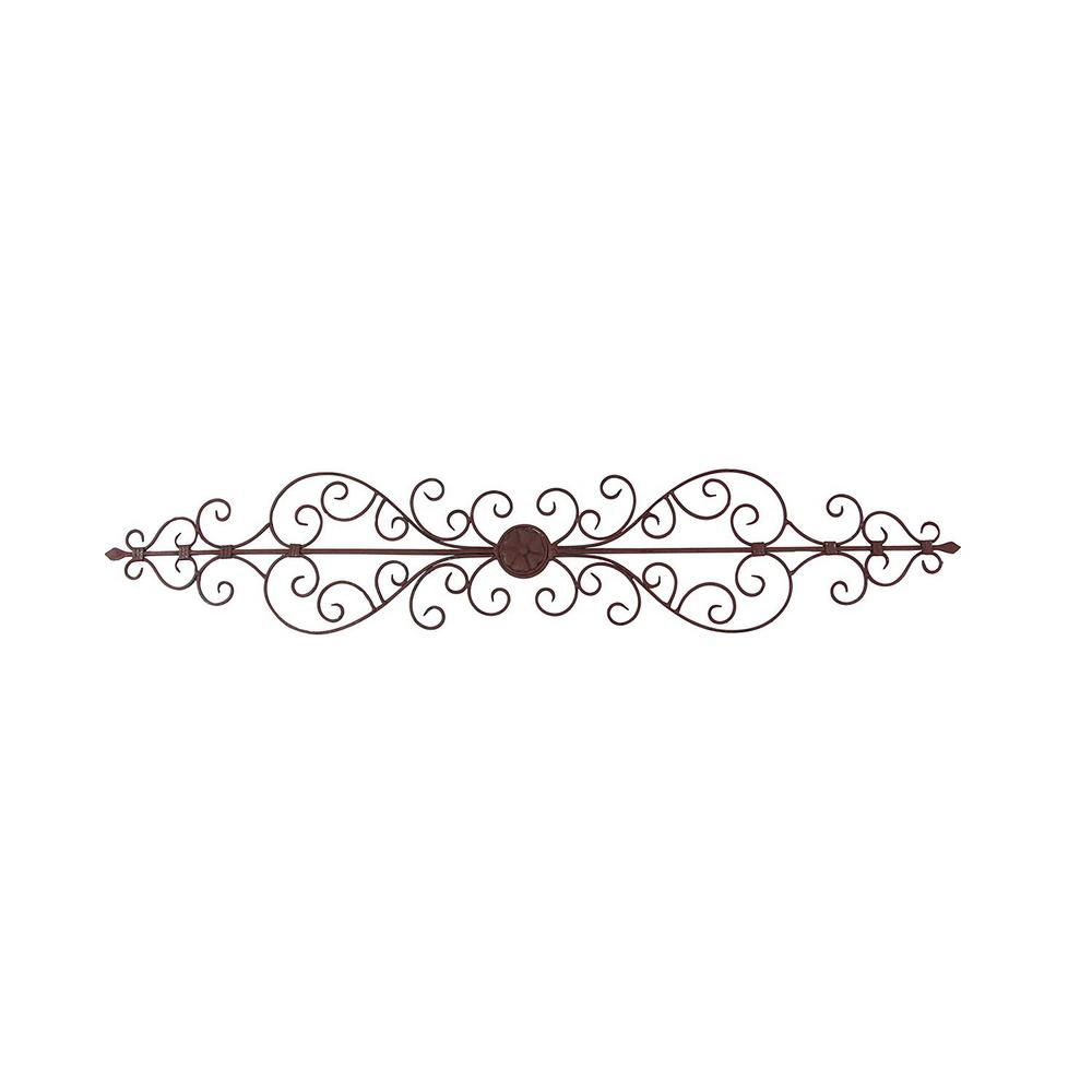 44 in. Wide Rustic Bronze Metal Wall Plaque