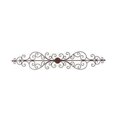 Rustic Bronze Metal Wall Plaque 44 Inches Wide
