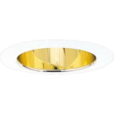 5 in. Gold Alzak Recessed Deep Cone Trim