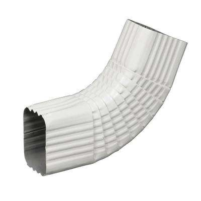3 in. x 4 in. White Aluminum Downspout B-Elbow