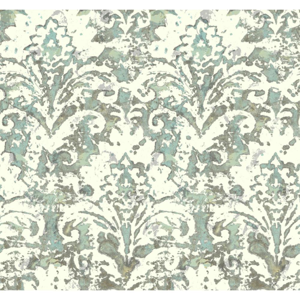 Cloud Nine Batik Damask Removable Wallpaper