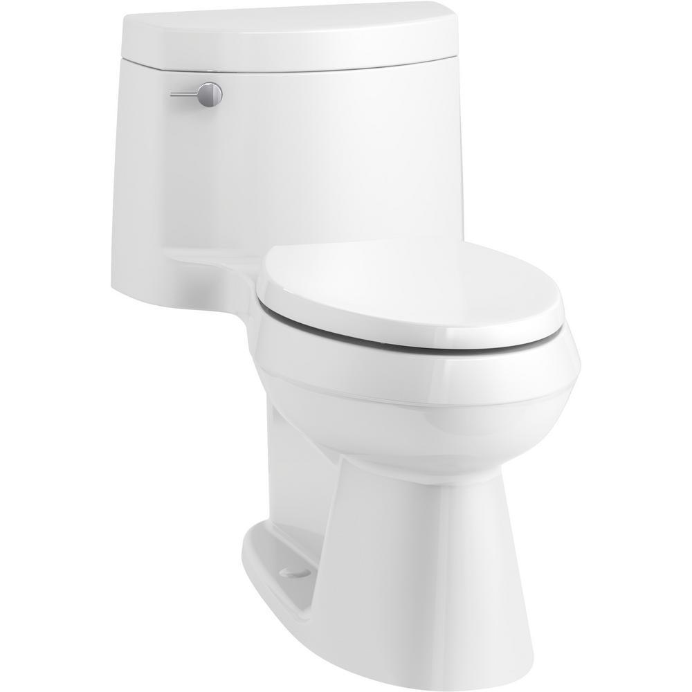 Cimarron 1-Piece 1.28 GPF Single Flush Elongated Toilet in White