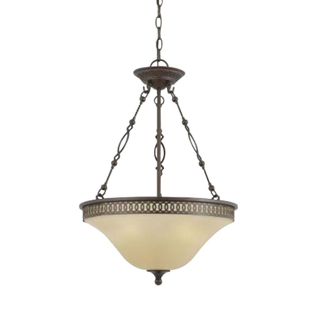 Illumine Value 3-Light English Bronze Incandescent Pendant