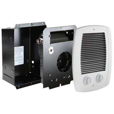 Com-Pak Bath 1,300-Watt 240-Volt In-Wall Fan-Forced Heater with Timer in White