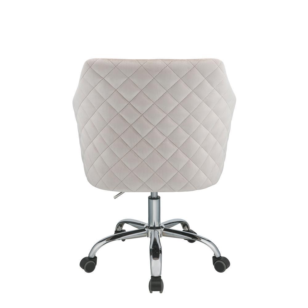 Acme Furniture Cosgair Champagne Velvet Office Chair 92506 The Home Depot