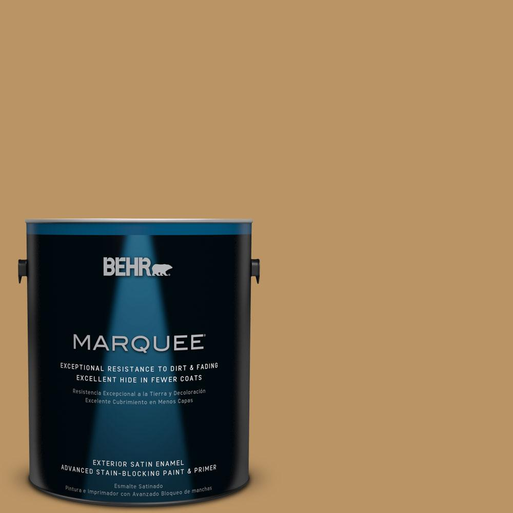BEHR MARQUEE 1-gal. #S300-6 Harvest Time Satin Enamel Exterior Paint