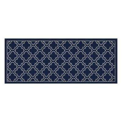 Trellis Navy 2 ft. x 5 ft. Accent Rug