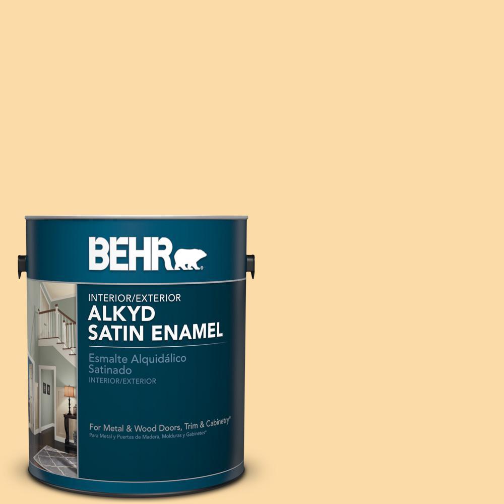 1 gal. #M290-3 Corn Stalk Satin Enamel Alkyd Interior/Exterior Paint