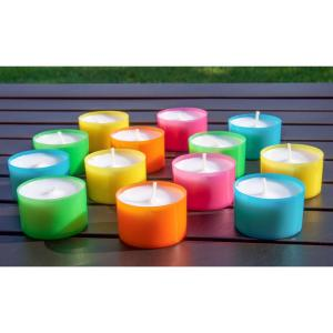 Click here to buy Stonebriar Collection Multicolor Tea Light Candles - 6 to 7 Hour Extended Burn Time (96-Pack) by Stonebriar Collection.