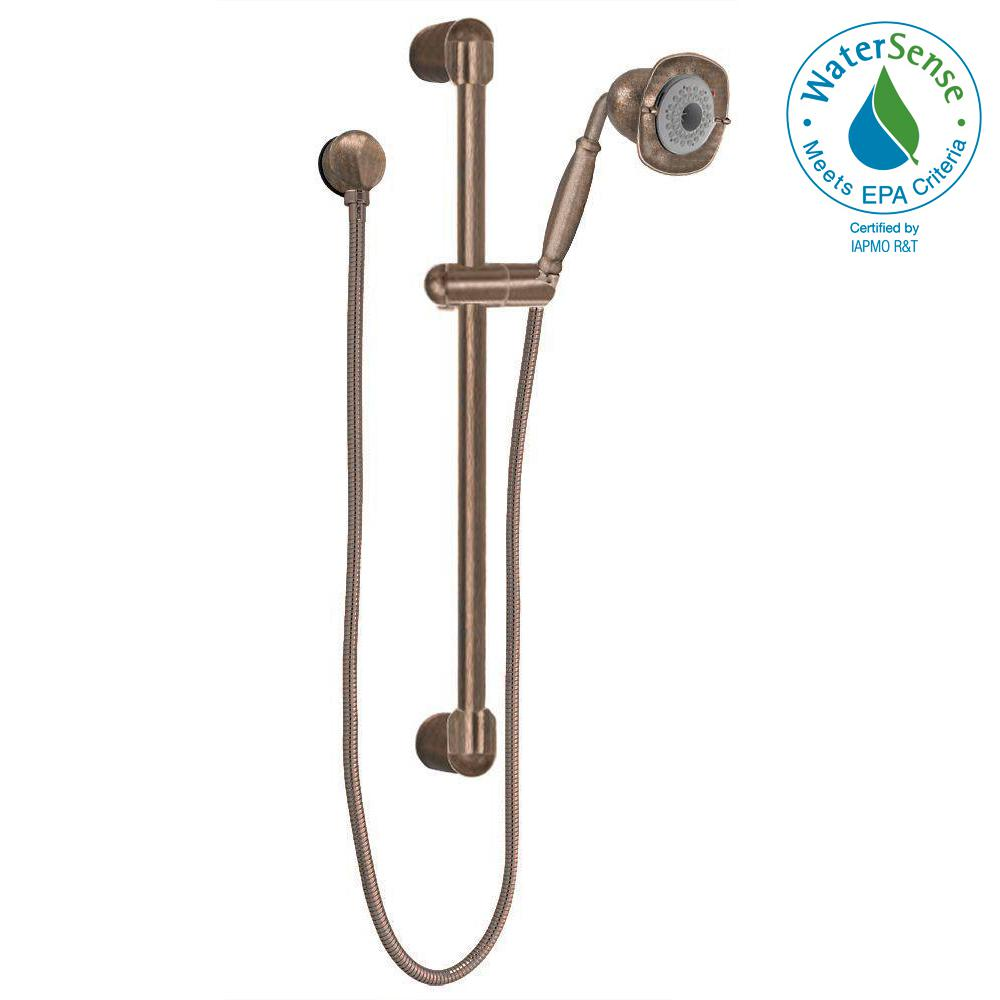 Flowise Square Transitional 3 Spray Wall Bar Shower Kit In Oil Rubbed