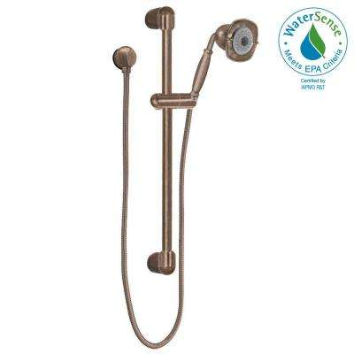 FloWise Square Transitional 3-Spray Wall Bar Shower Kit in Oil Rubbed Bronze