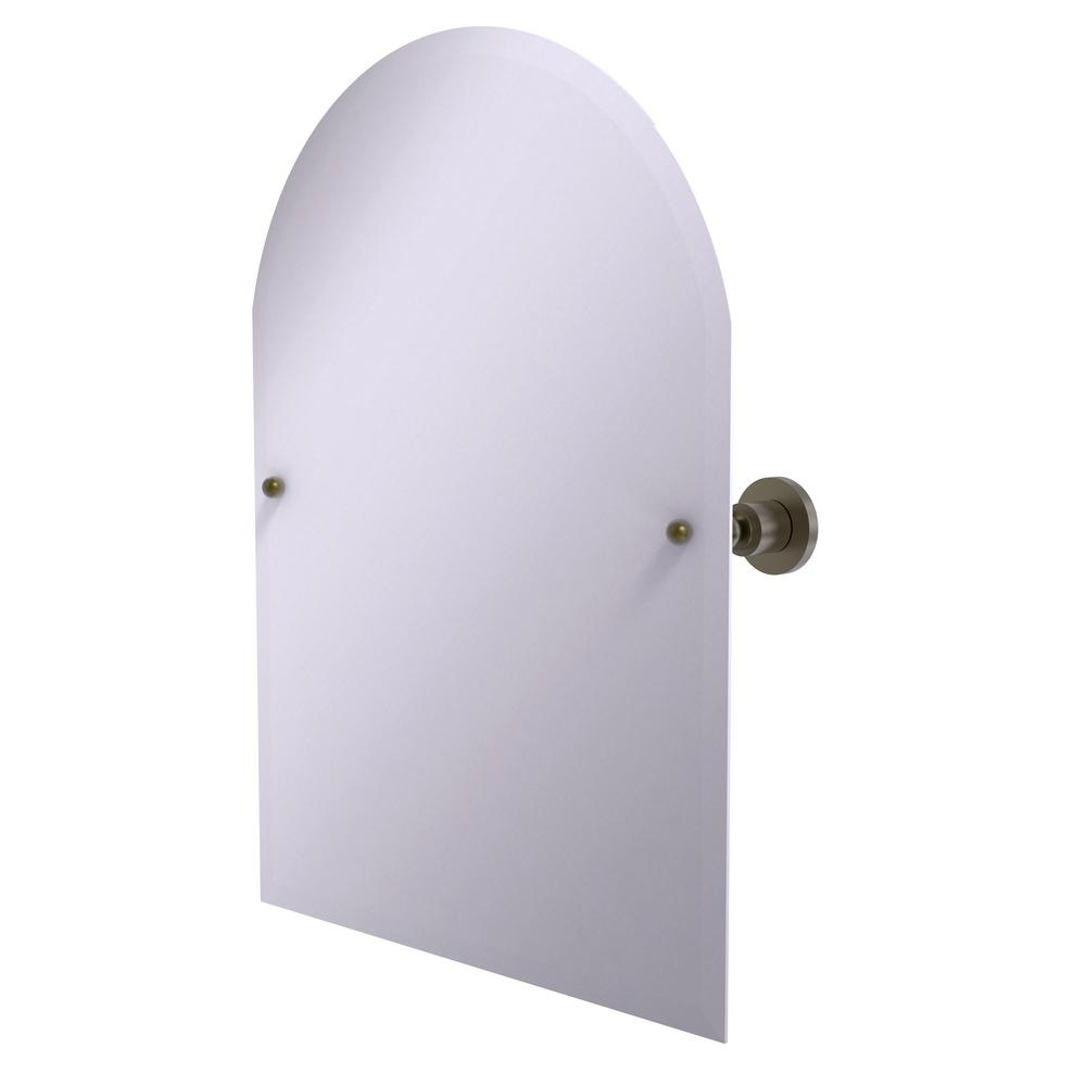 Allied Brass Astor Place Frameless Arched Top Tilt Mirror...