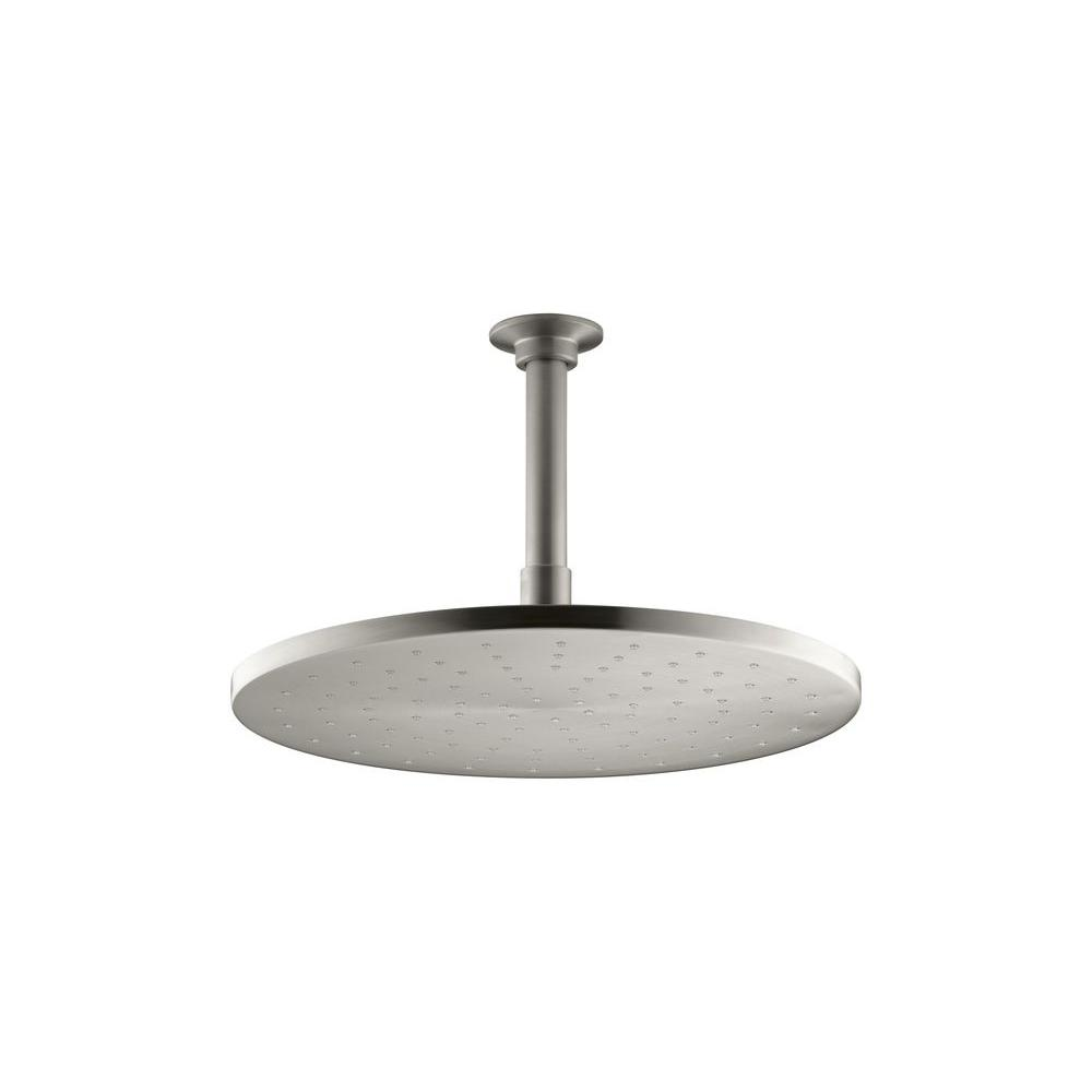 1-Spray Single Function 12 in. Contemporary Round Rain Showerhead in Vibrant