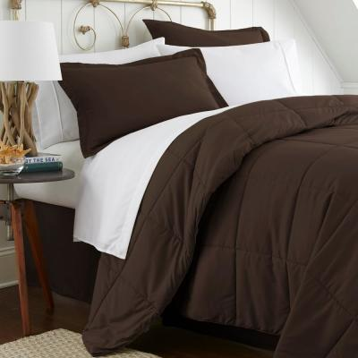 Performance 8-Piece Chocolate California King Bed in a Bag Set