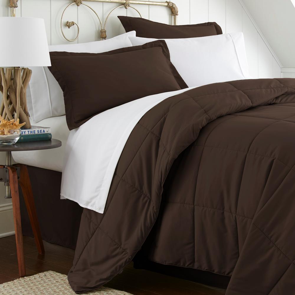 Chocolate Becky Cameron Down Alternative Comforter King