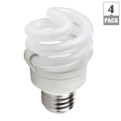 40-Watt Equivalent Spiral CFL Light Bulb Soft White (4-Pack)
