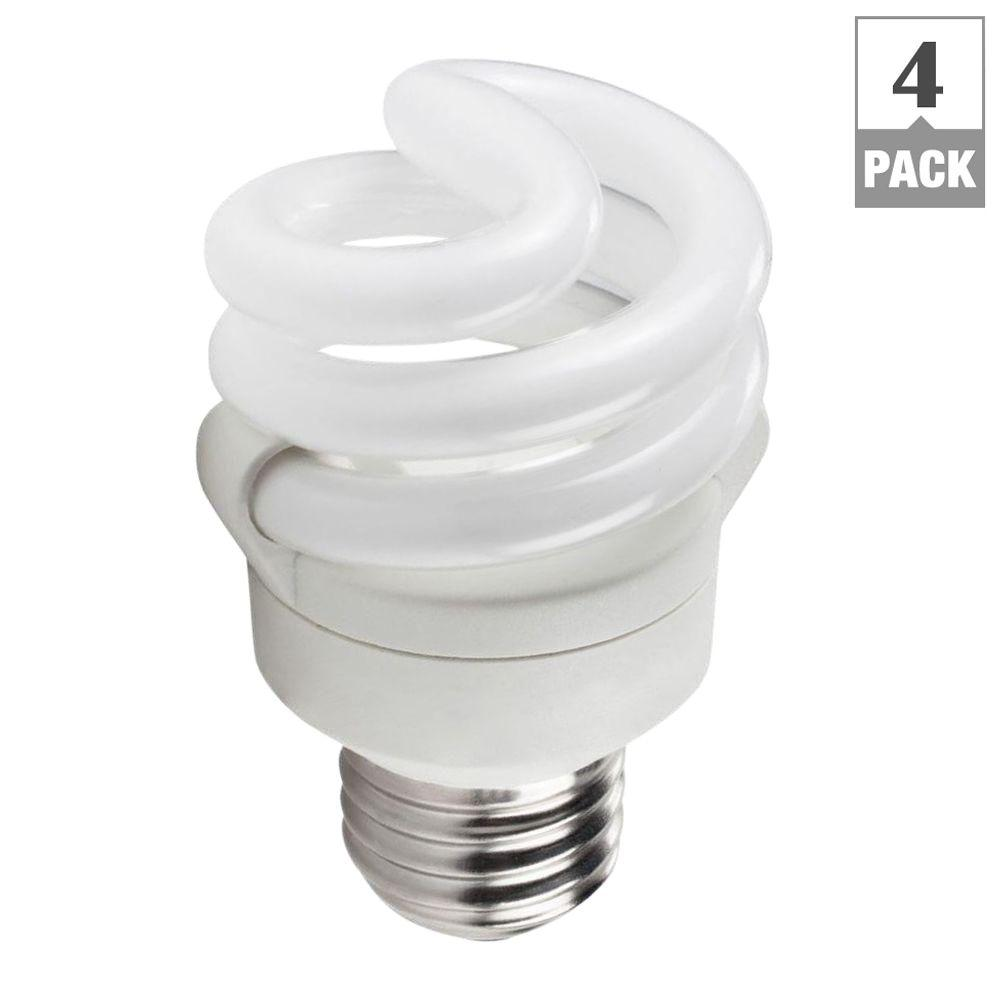 Philips 40W Equivalent Soft White Spiral CFL Light Bulb (4-Pack)