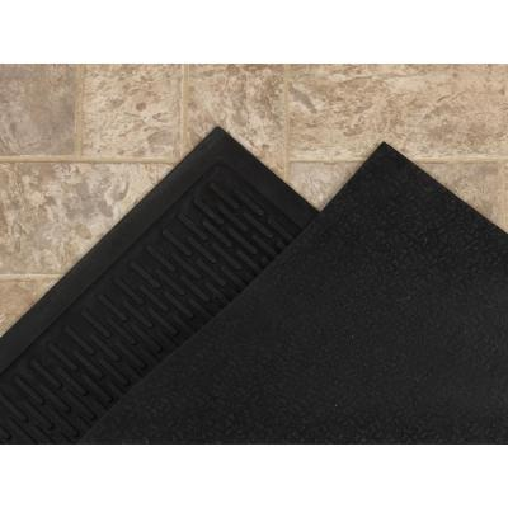 Charcoal 18 in. x 30 in. Scraping Natural Rubber Door Mat