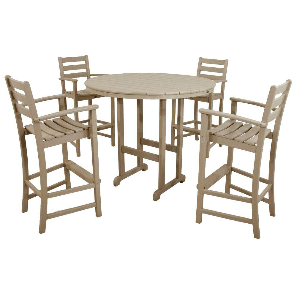 Monterey Bay Sand Castle 5-Piece Patio Bar Set