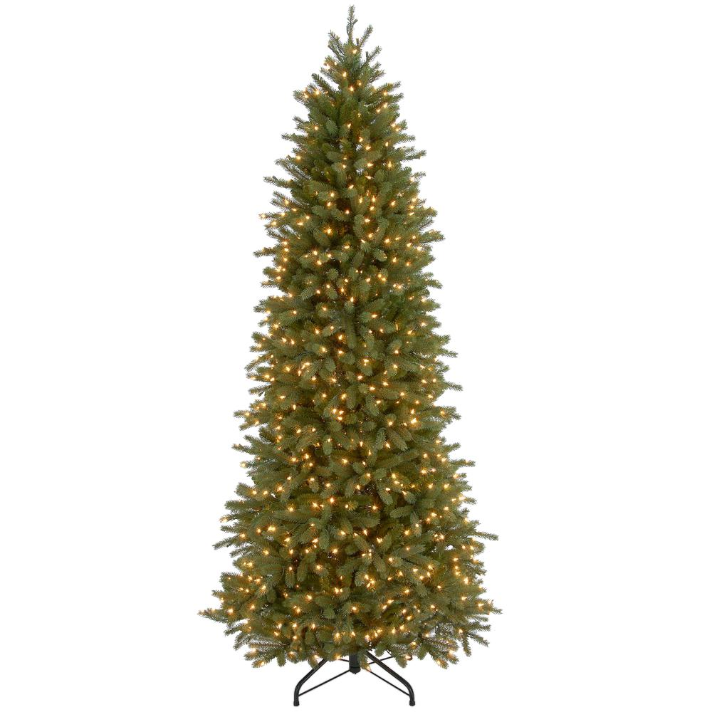 7.5 ft. Jersey Fraser Fir Artificial Christmas Pencil Slim Tree with Clear Lights