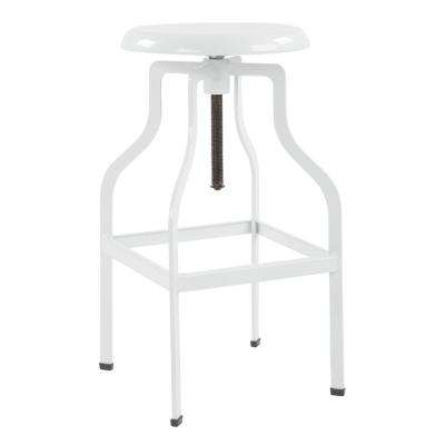 Birmingham 26 in. White Counter Stool