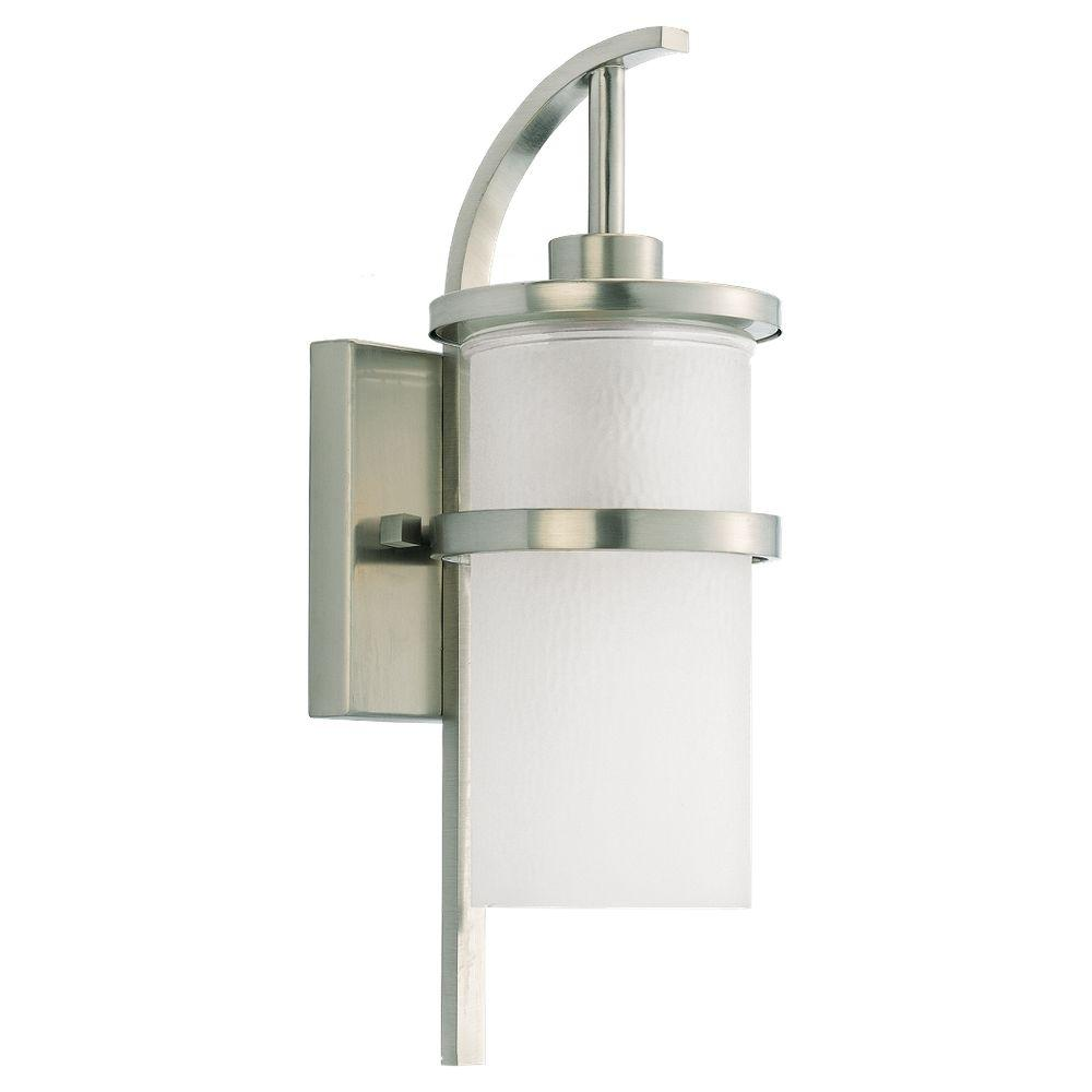 Eternity 1-Light Brushed Nickel Outdoor Wall Fixture