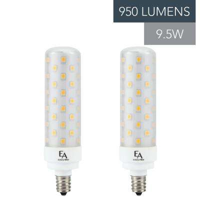 75-Watt Equivalent E12 Base Dimmable 2700K LED Light Bulb Warm White (2-Pack)