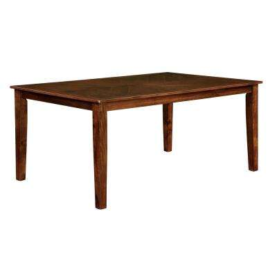 Hillsview I 60 in. Brown Cherry Transitional Style Dining Table