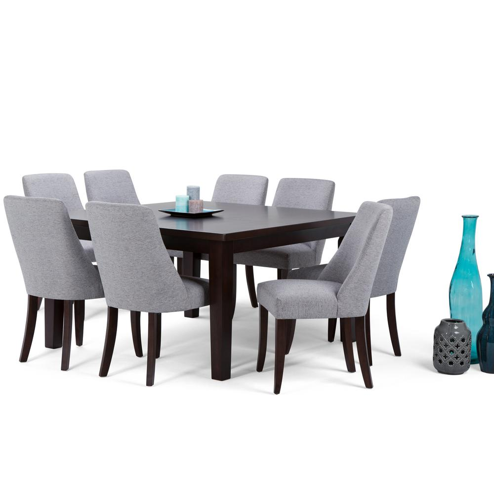 Top Simpli Home Walden 9-Piece Java Brown Dining Set-AXCDS9WA-G - The  AK38