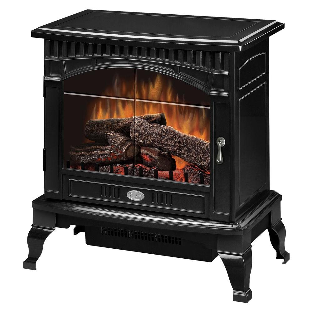 Dimplex Traditional Electric Stove in Gloss Black brings a smooth comfort into any room. Includes a thermostat controlled fan-forced heater.