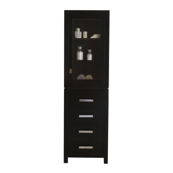 Madison 21 in. x 17 in. D x 72 in. H Free Standing Linen Cabinet in Espresso