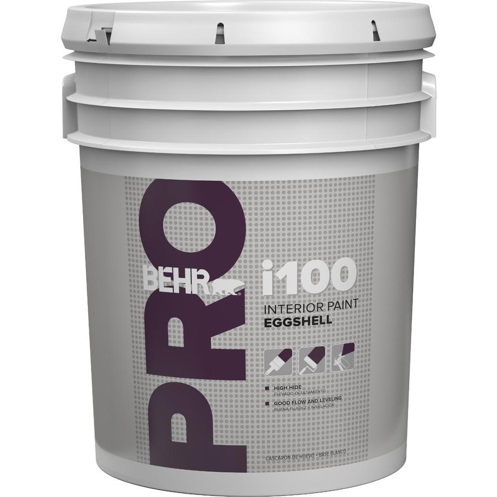 Interior Paint Colors Home Depot: BEHR PRO 5 Gal. I100 White Eggshell Interior Paint-PR13005