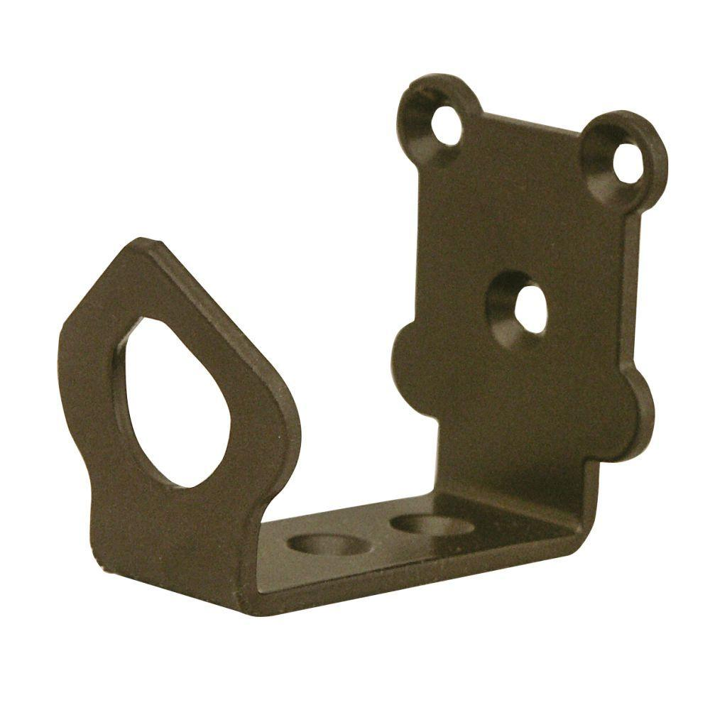 2-1/8 in. x 1-5/8 in. Universal Oil Rubbed Bronze Floor Bracket
