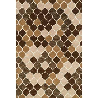 Weston Lifestyle Collection Neutral/Brown 7 ft. 9 in. x 9 ft. 9 in. Area Rug