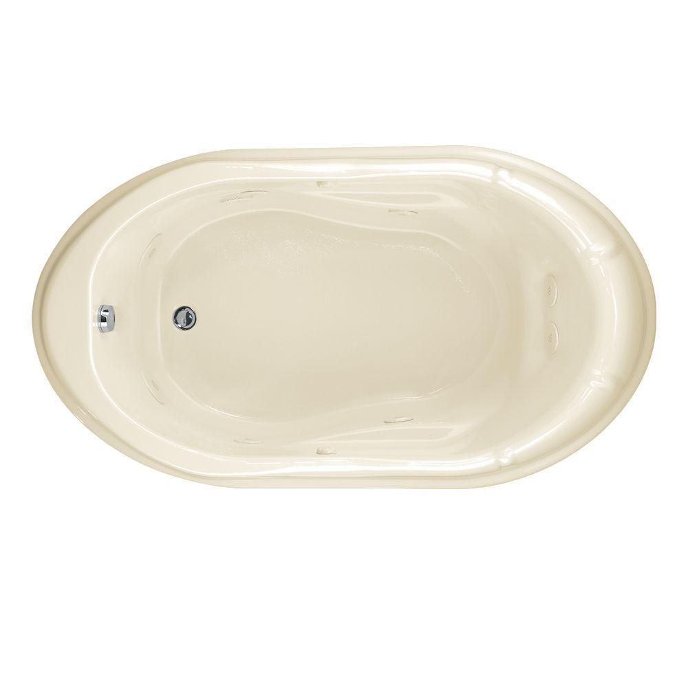 Lovely EverClean Reminiscence 5.5 Ft. Whirlpool Tub In Linen