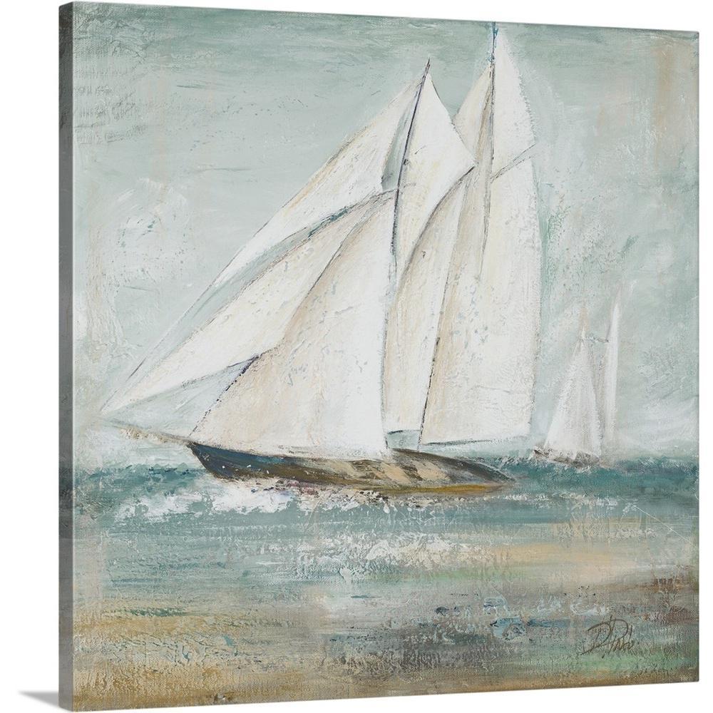"""Cape Cod Sailboat I"" by Patricia Pinto Canvas Wall Art"