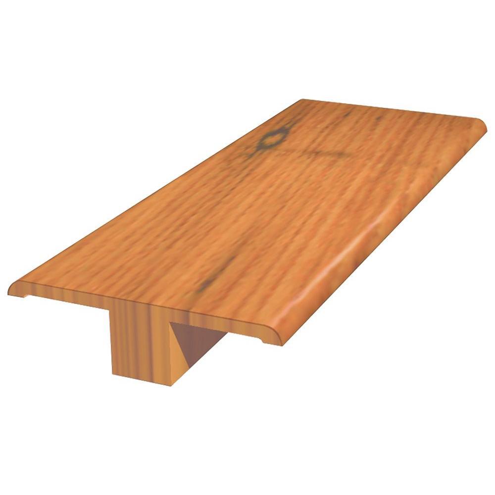 Macon Natural 5/8 in. x 2 in. x 78 in. Engineered Oak Hardwood T-Molding