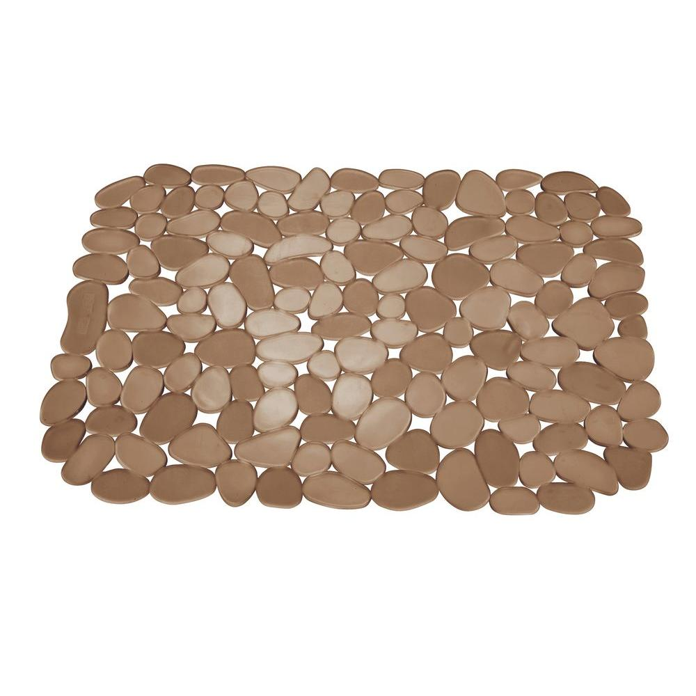 interdesign 11.75 in. pebblz large sink mat in amber-60662 - the