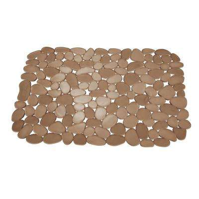 11.75 in. Pebblz Large Sink Mat in Amber