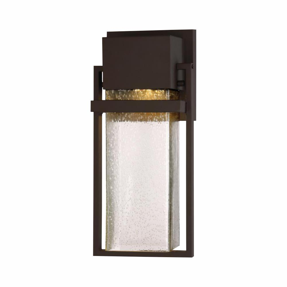 Designers Fountain Fairbanks 10-Watt Rustique 15 in. Outdoor Integrated LED Wall Lantern Sconce
