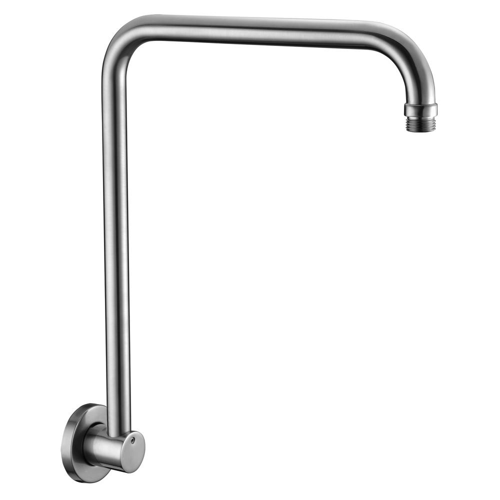 ALFI BRAND 12 in. Wall Mount Shower Arm in Brushed Nickel-AB12GRW-BN ...
