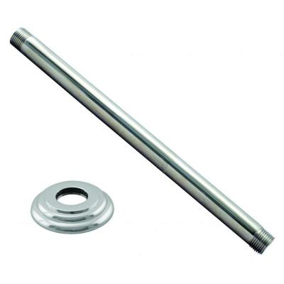 12 in. Ceiling-Mount Shower Arm and Flange in Polished Chrome