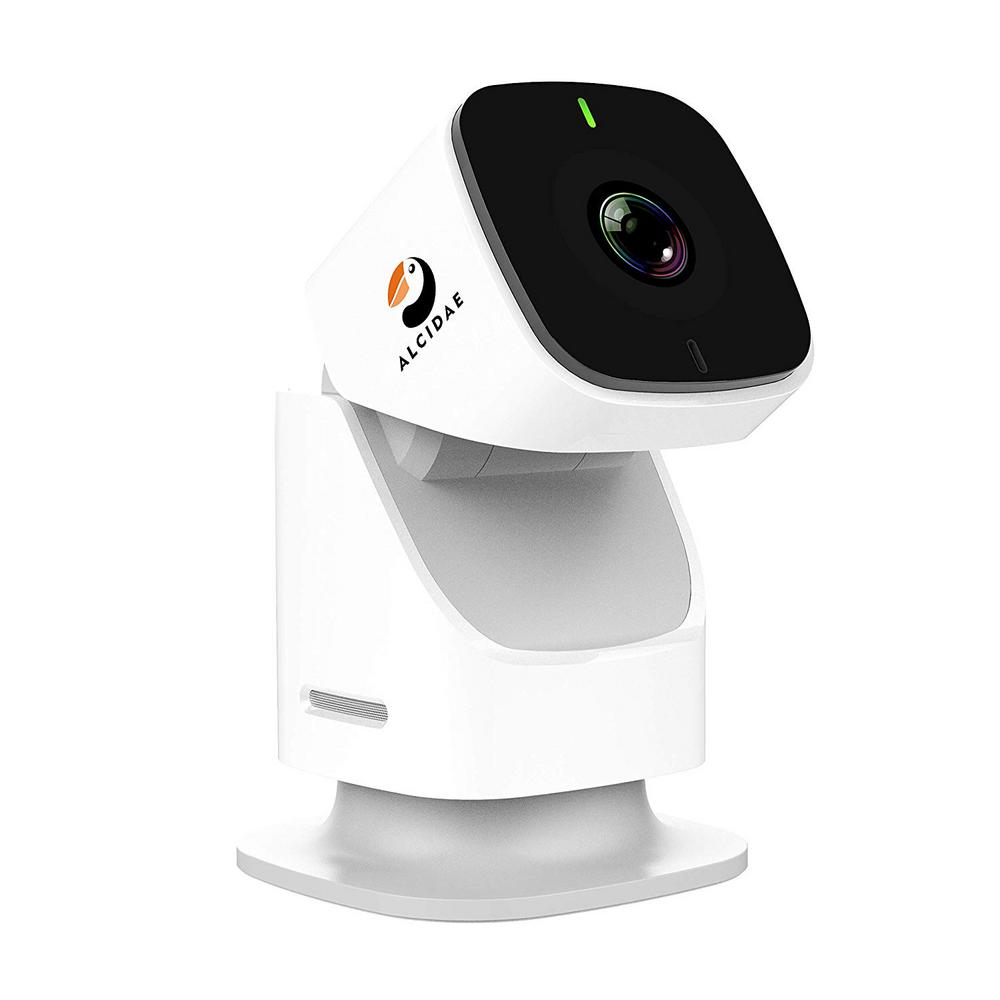Alcidae Wired Indoor Motion Tracking Security Surveillance Camera 360-Degree PTZ 1080P with SD Card and Cloud Storage