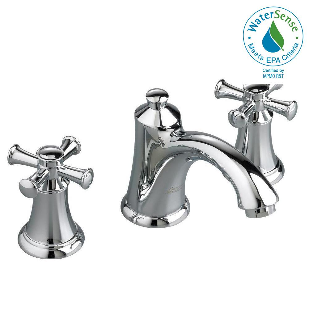8 in. Widespread 2-Handle Mid-Arc Bathroom Faucet in Polished Chrome with