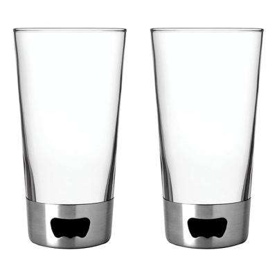 16 oz. Silver Pint Glass Opener (2-Pack)