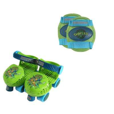 Teenage Mutant Ninja Turtles Junior Size 6-12 Roller Skates with Knee Pads